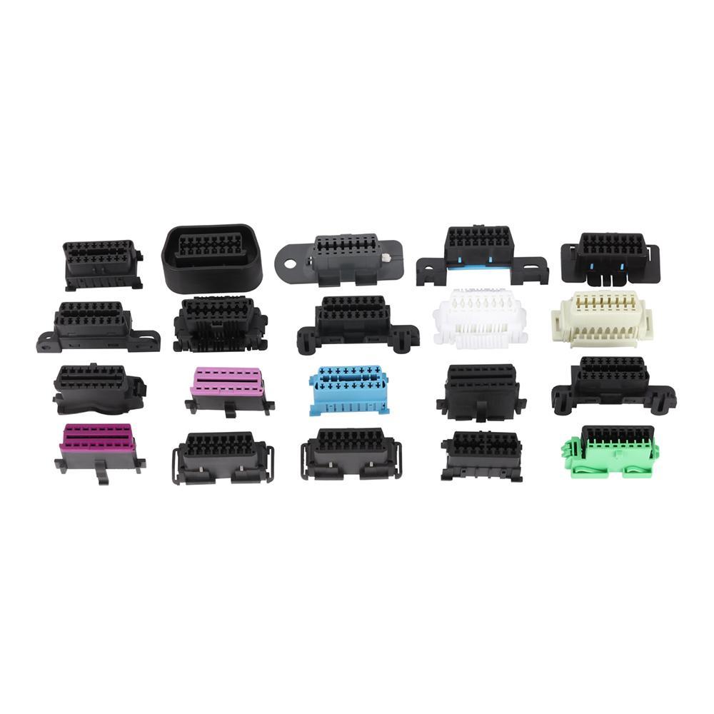 16針陽螺紋至MOLEX 6P,帶福特連接器OBD2車載分離器y型電纜 4