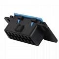 16針陽螺紋至MOLEX 6P,帶福特連接器OBD2車載分離器y型電纜 6