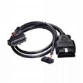 帶扁平連接器的16針插頭到MOLEX 18P,帶MOLEX的2線車載診斷線