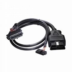 帶扁平連接器的16針插頭到MOLEX 18P,帶MOLEX的