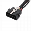 16PIN MALE TO MOLEX 18P with fiat connector obd 2 obdii y cable with molex For