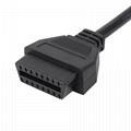 16針插頭到MOLEX 6P,帶迷你連接器obd 16針obd2 y電纜 2