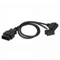16PIN MALE TO FEMALE with fiat CONNECTOR obd 16 pin obd2 y cable For OBD2 Diagno