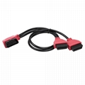 16PIN Right MALE TO FEMALE Y CABLE obd2 obd-ii male y obd  splitter cable For OB