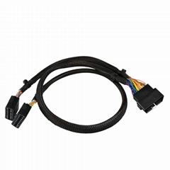 通用車載診斷系統線束16針車載診斷系統y分裂電纜