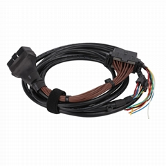 16针公对母线束车载扫描仪故障代码读取器的车载诊断系统电缆线束