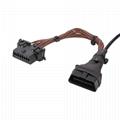 16PIN MALE TO FEMALE Wire harness obd y cable Wire harness For OBD2 Diagnostic S