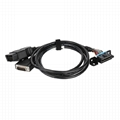 16PIN MALE TO FEMALE with DB15P MALE CONNECTOR obd 2 male y cable Wire harness F