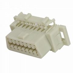 OBDII 16P母本田連接器obd2母16針車載診斷連接器