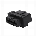 OBD-II 16PIN MALE TO FEMALE Ultra short Adapter obd obd2 16 pin male adapter For