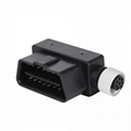 16PIN MALE TO M12 8PIN Adapter m12 8 pin waterproof connector obdii 16 pin adapt