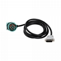 DB15PIN MALE TO J1939 TYPE2 MALE/FEMALE s9 9 pin adapter db15 cable For Transpor
