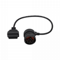 16PIN FEMALE TO J1939 9P 90°MALE obd obd2 j1939 bus gps cable For Transport equi