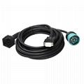 9P 1型內螺紋黑色,帶D-SUB 15針外螺紋至9針2型分離器y電纜
