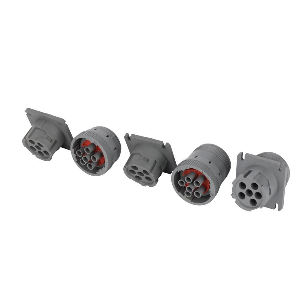 6針灰色公到6P母灰色,帶MOLEX 3.0 12針j1708 jpod到6針分離器y電纜 4