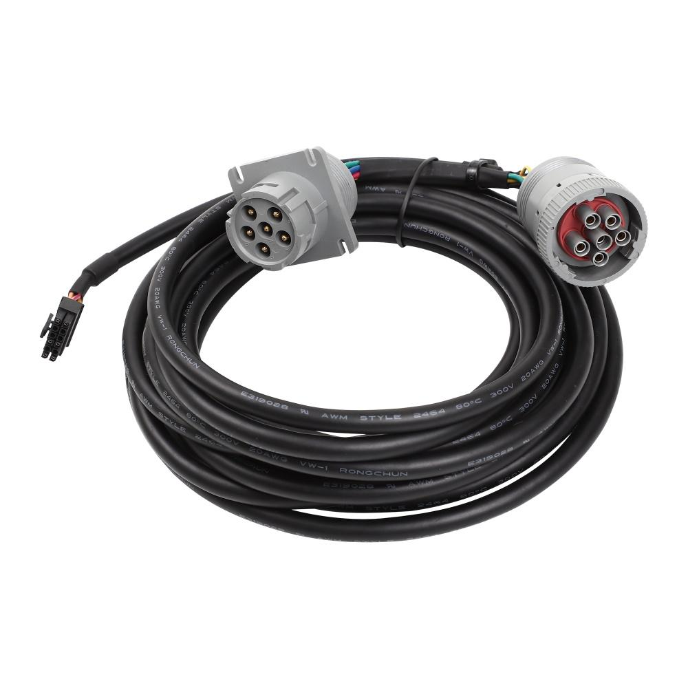 6針灰色公到6P母灰色,帶MOLEX 3.0 12針j1708 jpod到6針分離器y電纜 1
