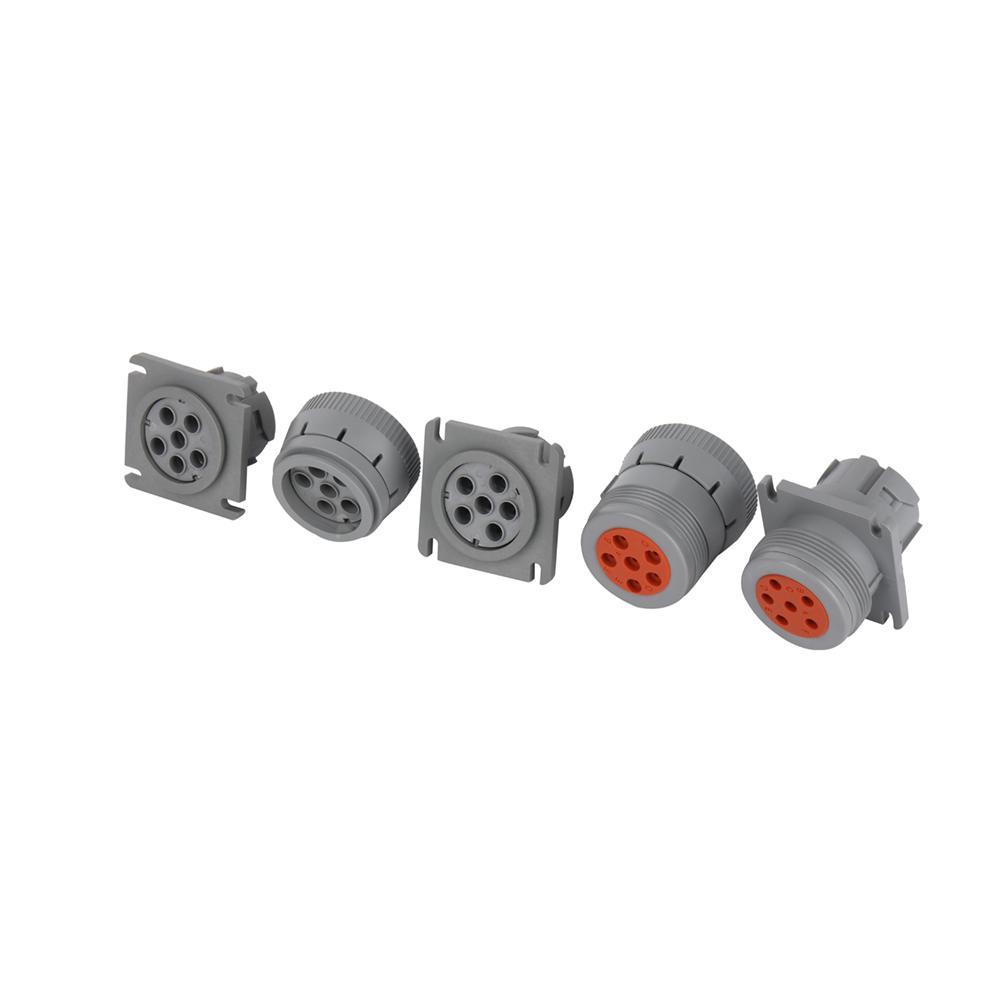 6針灰色公到6P母灰色,帶MOLEX 3.0 12針j1708 jpod到6針分離器y電纜 6