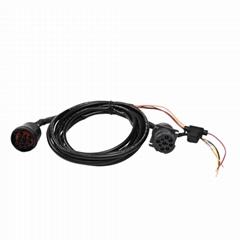 9針1型公到9P1型母黑色帶FUSH j19399針分路器y電纜