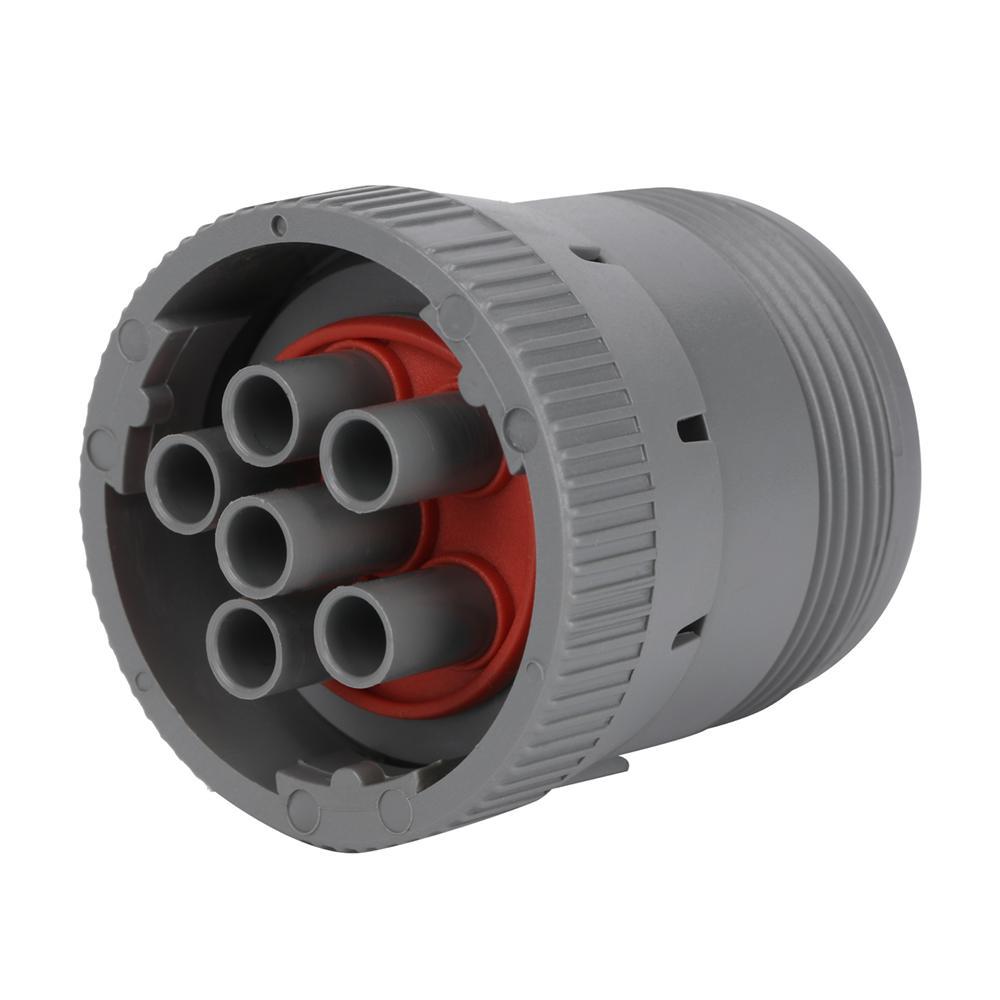 6針灰色公到6P母灰色帶D-SUB15P公j1708連接器到db15分路器電纜 3