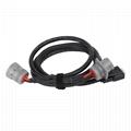 6針灰色公到6P母灰色帶D-SUB15P公j1708連接器到db15分路器電纜 5