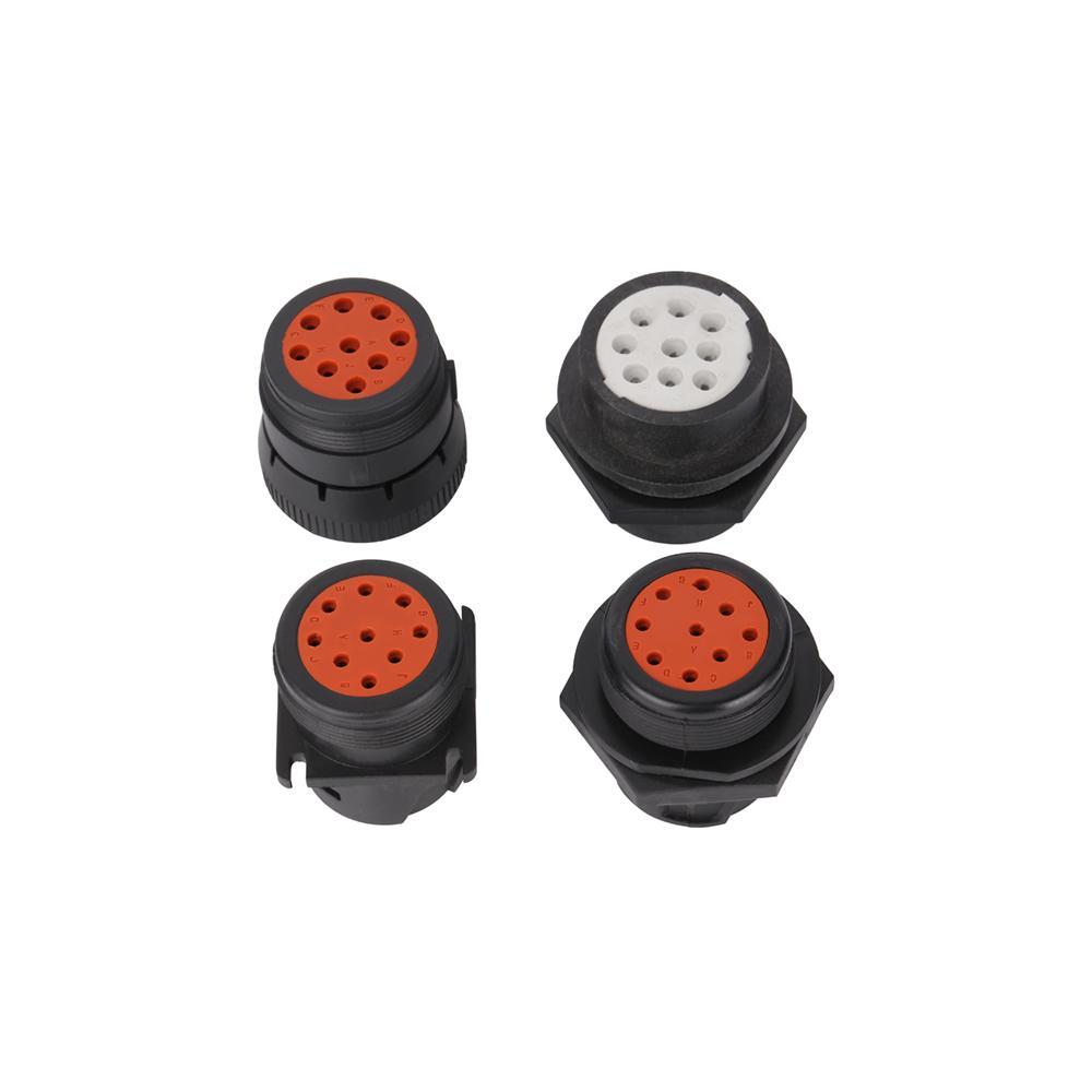 J1939 9針1型陽黑色連接器j1939頭1型9針德國連接器用於製造9針 4