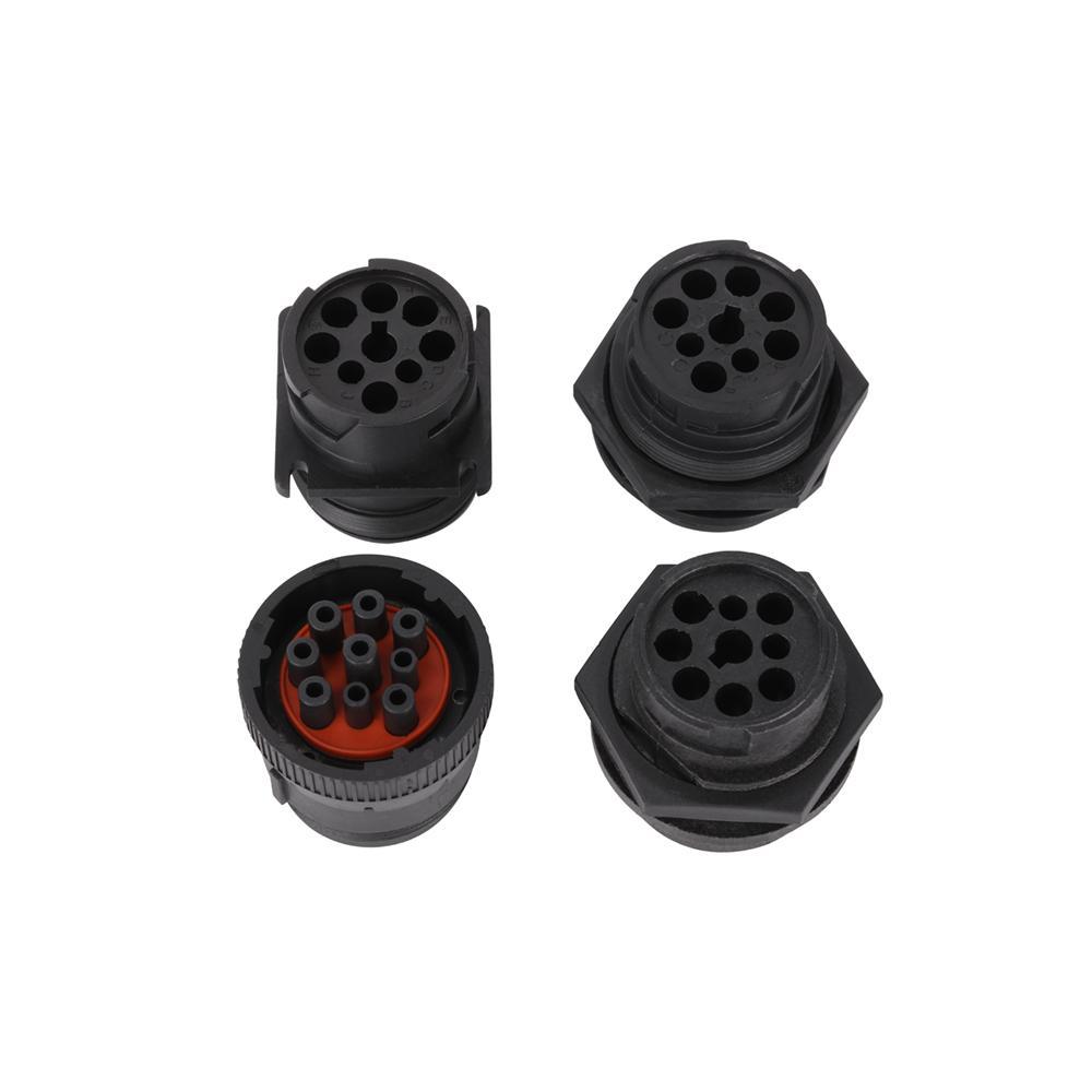 J1939 9針1型陽黑色連接器j1939頭1型9針德國連接器用於製造9針 6