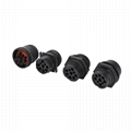 J1939 9PIN TYPE1 FEMALE BLACK WITH Screw thread connector j1939 head type1 9 pin