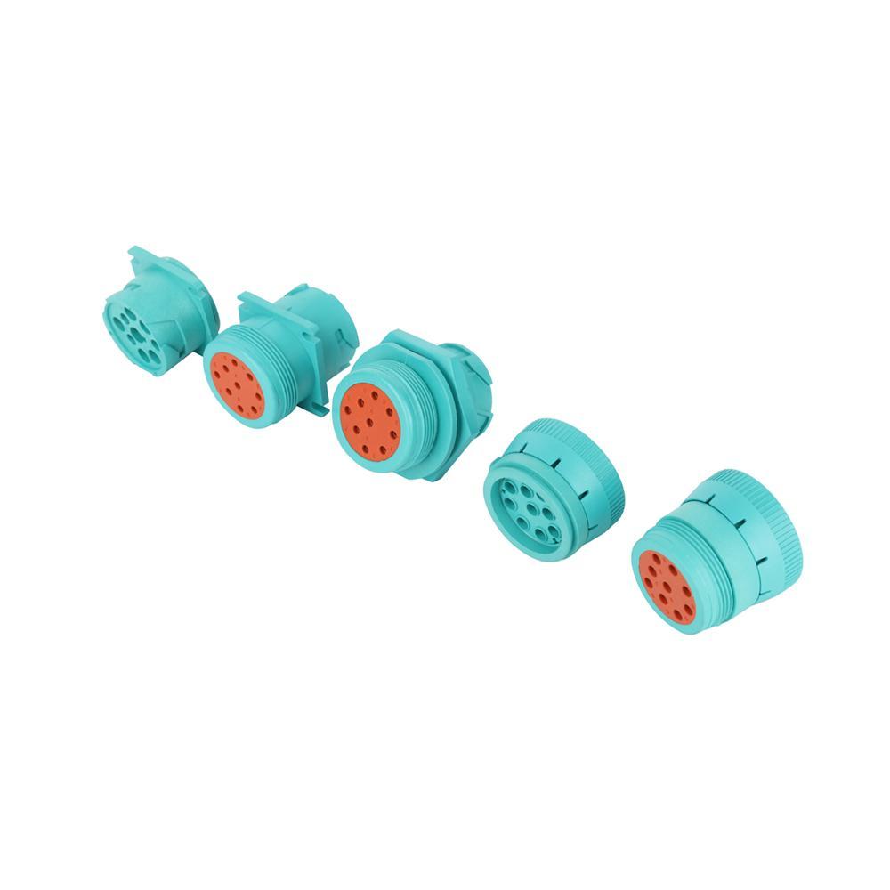 j1939 9針2型內螺紋綠色螺紋連接器J19399針綠色圓形連接器 5