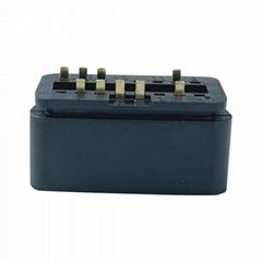 16針公頭連接器OBDII 12V 24V卡車診斷接口插頭