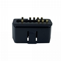 16 pin male connector OBDII 12V 24 V truck diagnostic interface plug