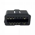16 pin male connector OBDII 12V 24 V truck diagnostic interface plug