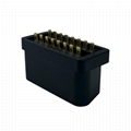 Obdii2 black solder plate male and female 16pin pin pin plug