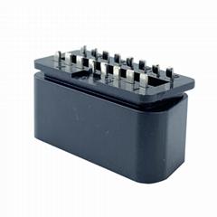 OBD2汽車公頭帶針插頭 2-16pin故障診斷儀插頭