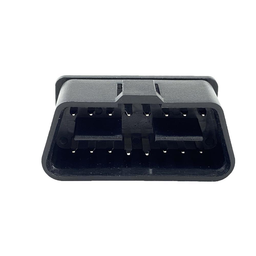 OBD2汽車公頭帶針插頭 2-16pin故障診斷儀插頭 5