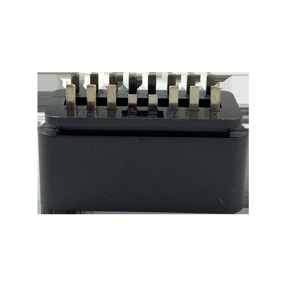 OBDII 16P 公頭12V直針 汽車診斷線汽車轉接線插頭 2