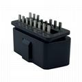 OBDII 16P 公頭12V直針 汽車診斷線汽車轉接線插頭 3