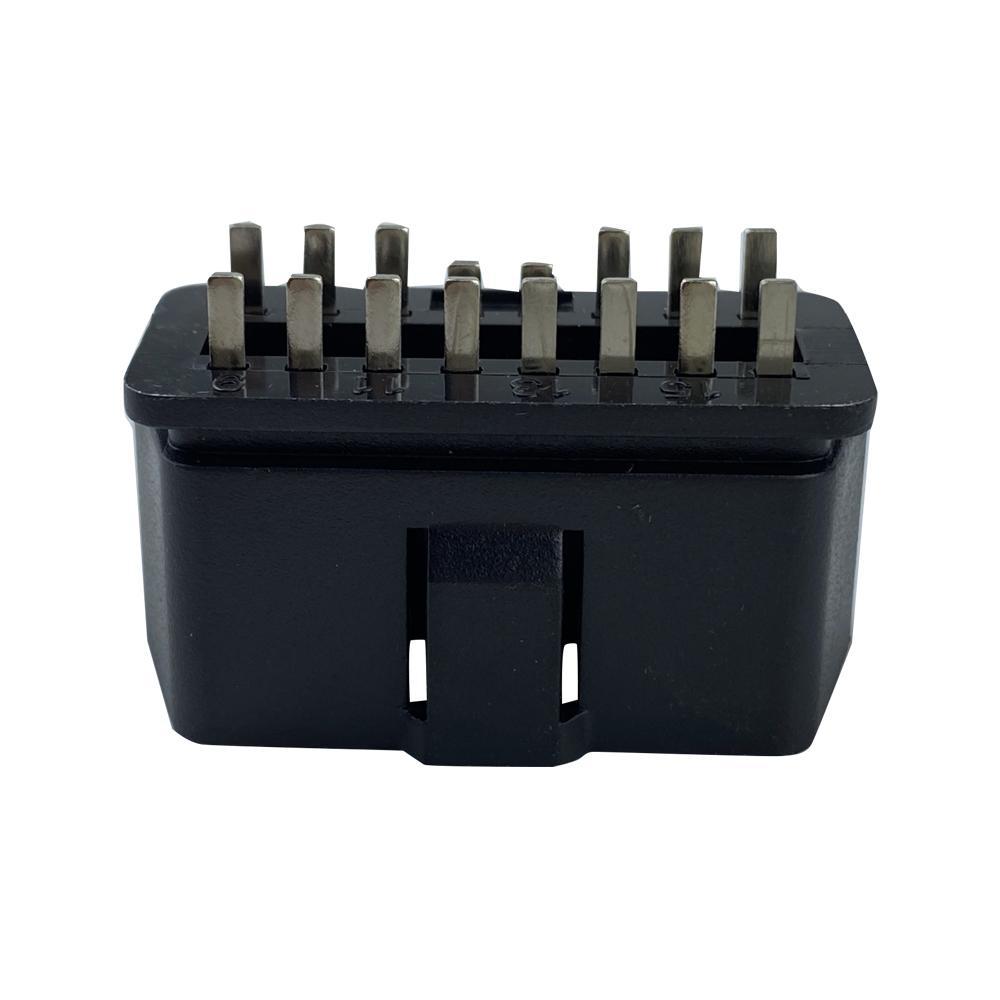 OBDII 16P 公頭12V直針 汽車診斷線汽車轉接線插頭 5