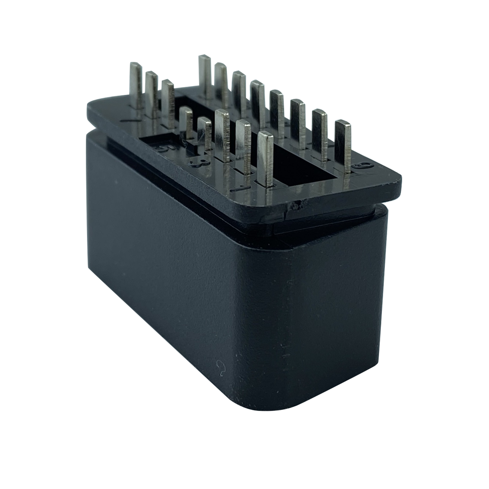 OBDII 16P 公頭12V直針 汽車診斷線汽車轉接線插頭 6