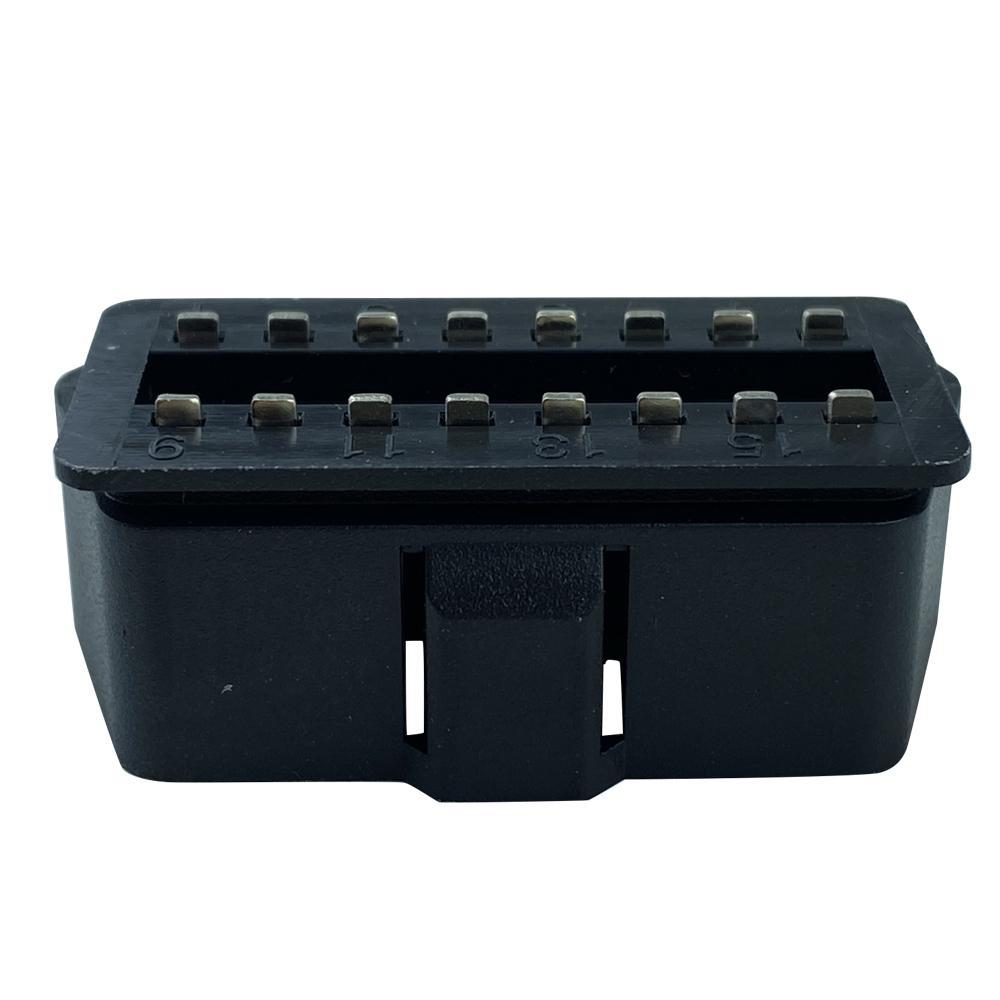 OBDII PA66材料實心焊板式光面OBD連接器 2