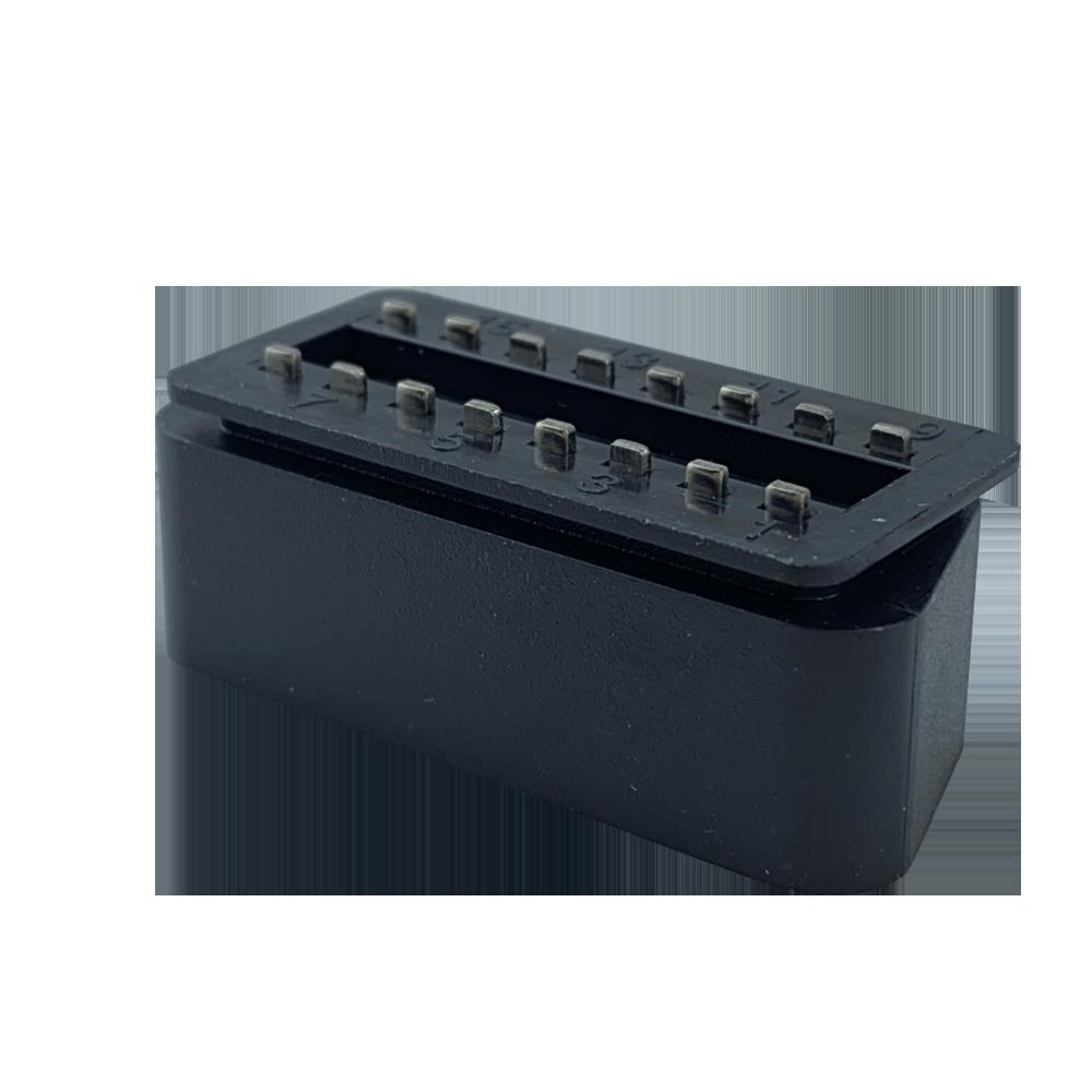 OBDII PA66材料實心焊板式光面OBD連接器 3