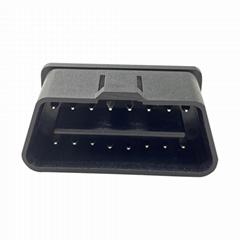 J1962 汽車檢測儀OBDII2黑色焊板公頭連接口