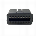OBD2 automobile male with pin plug 16 pin male connector