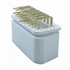 obd2公頭90°插頭 16針白色汽車故障診斷儀插頭