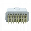 OBD2 male 90 ° plug 16 pin white automobile fault diagnosis instrument plug