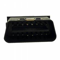 obd2公頭90°插頭 16針黑色汽車故障診斷儀插頭