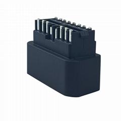 obdii J1962 黑色16針汽車故障診斷儀插頭