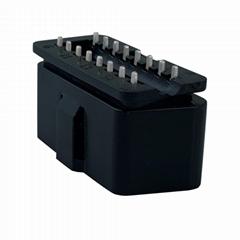 OBDII16针公头连接器OBDII 12V 24V卡车诊断接口插头