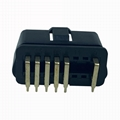 J1962 automobile obdii12pin connector 90 ° black gold plated male