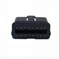 J1962 OBD2 16 pin 12V 24 V auto diagnostic interface plug