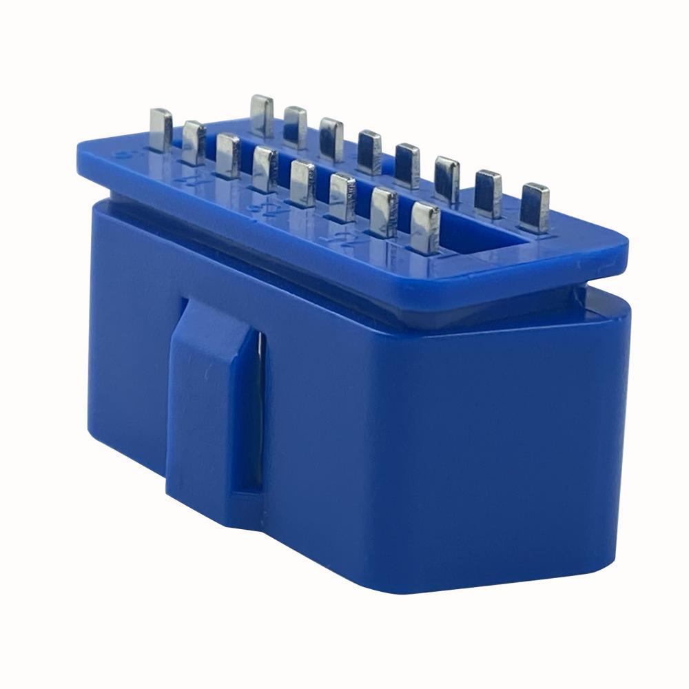 J1962 連接器藍色 OBD II 16PIN汽車診斷線汽車轉接線插頭 5